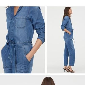 Pants - Denim overall/long sleeve jumpsuit